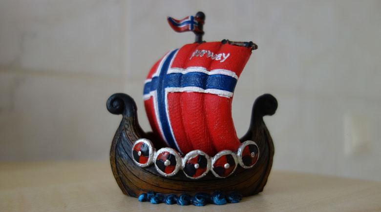 Norwegisches Wikingerschiff