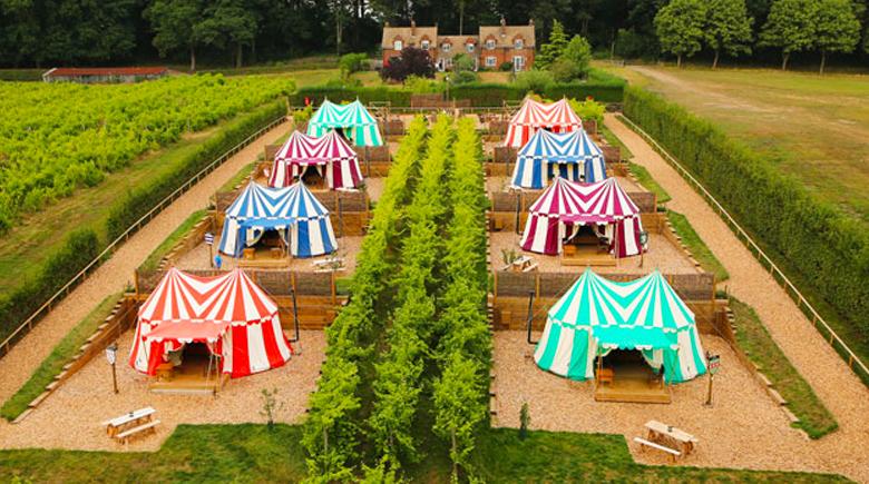 Zelte beim Leeds Castle