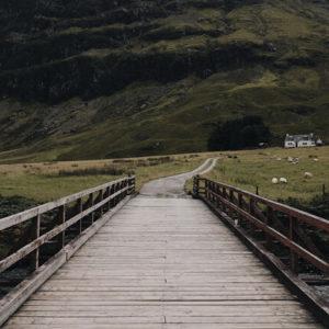 Brücke in Glencoe