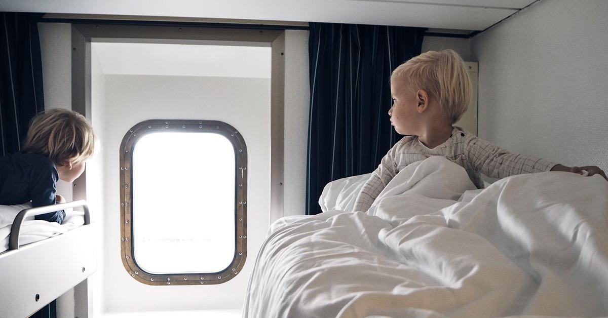 Kinder in DFDS Kabine